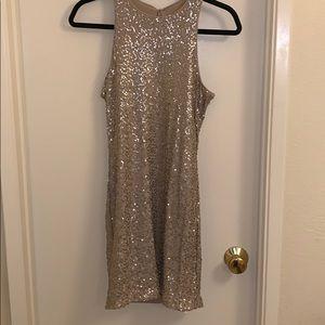 Gold sequin hollister dress
